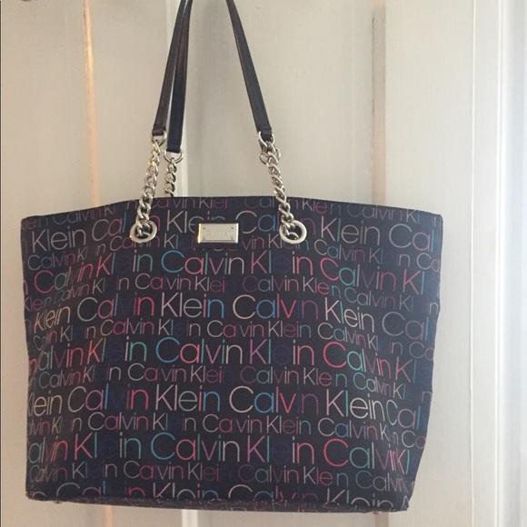 c6d34d466d174 Calvin Klein monogrammed handbag